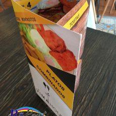 Carta de menu de Vima House