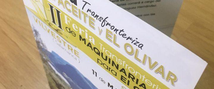 Cartelería para la Feria Transfronteriza del Aceite y el Olivar en Vilvestre