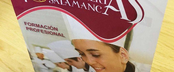 Folletos para la Escuela de Hostelería de Salamanca