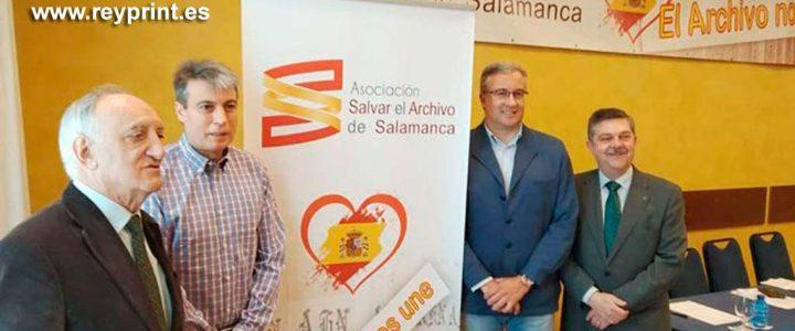 Roll-up, lona y logotipo de Salvar El Archivo de Salamanca