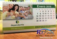 Calendario de mesa espiral para Dependentia