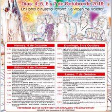 Cartel de fiestas de Valderrodrigo 2019