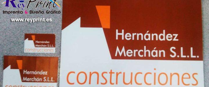 Pegatinas y vinilo para Construcciones Hernández Merchán