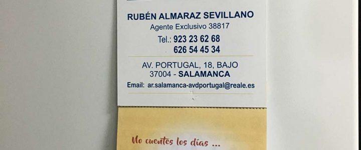 Calendario de nevera para Rubén Almaraz